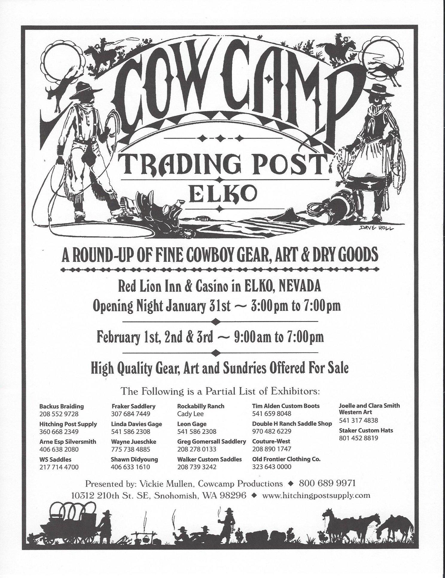 Cowcamp Trading Post - WS Saddles Coeur d'Alene, ID   Call